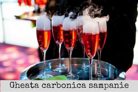 gheata carbonica sampanie primire invitati nunta bucuresti
