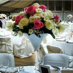 Aranjamente florale nunta mesele invitatilor si prezidiu bucuresti