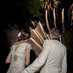 focuri de artificii nunta exterior