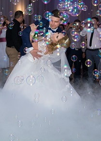 masina baloane de sapun nunta valsul mirilor