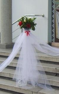 stalpisori decorati porumbei nunta bucuresti