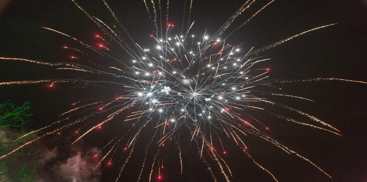 artificii nunta exterior