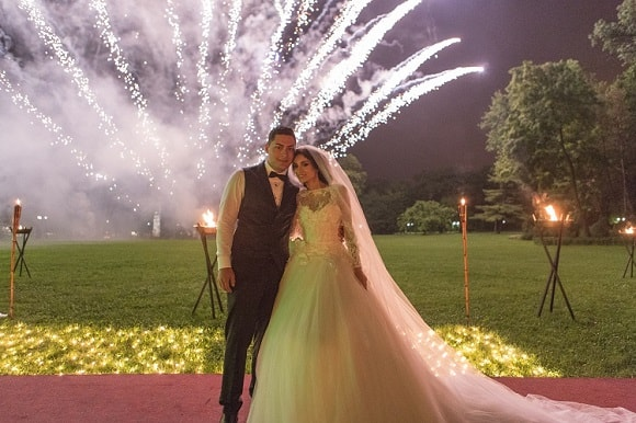 focuri artificii nunta exterior