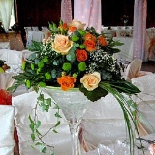 aranjament floral nunta f48