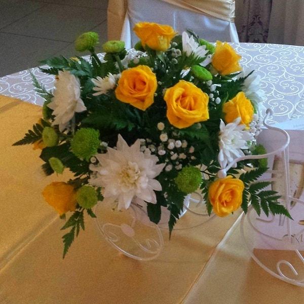 aranjament floral nunta f60