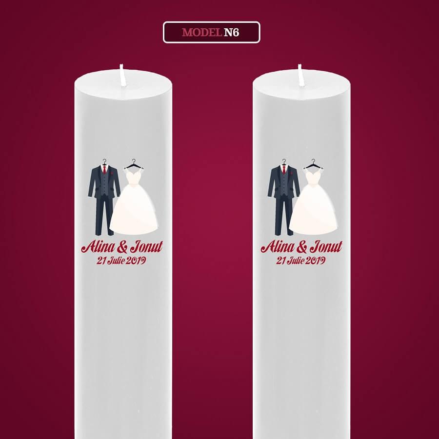 lumanari nunta personalizate