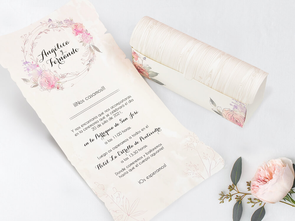 Invitatii Nunta cu tema florala